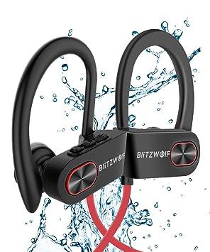 Auriculares Bluetooth, BlitzWolf IPX7 Impermeable Bluetooth 4.1 ...