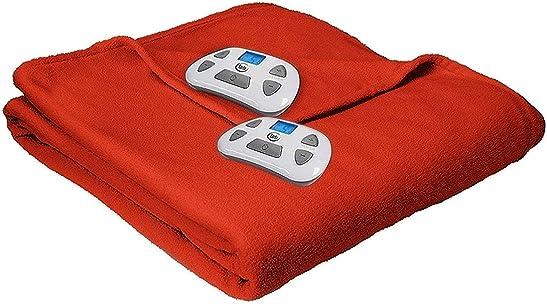 Serta Microfleece Electric Heated Warming Blanket Queen Spice