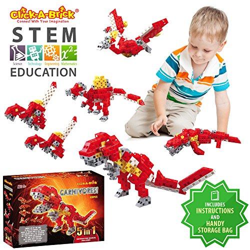 95d9243e7804 Click-A-Brick Carnivores! 100pc Building Blocks Set