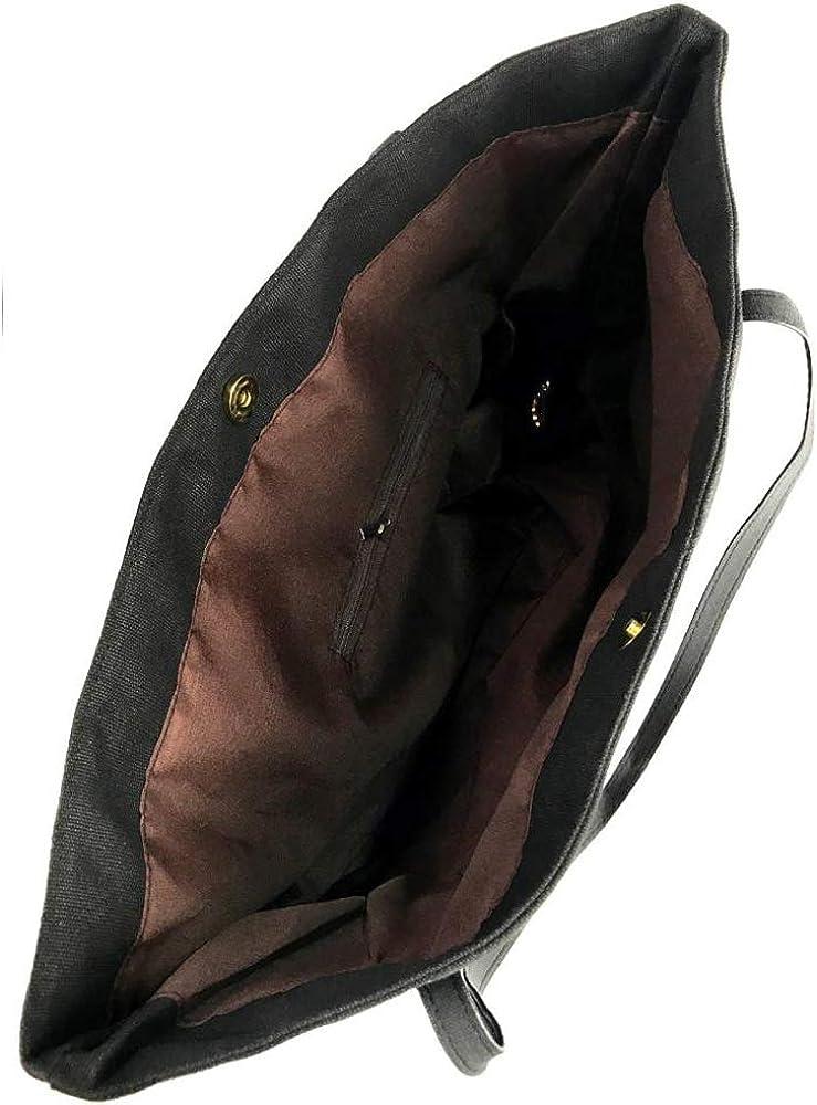 Bupaa Womens Hairstylist Heart Hairdresser Fashion Canvas Shoulder Bag Handbag Black