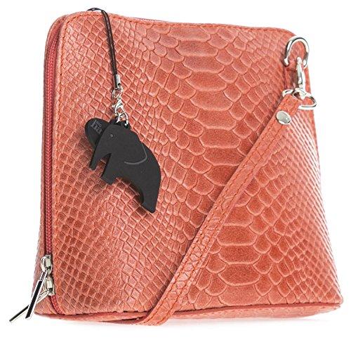Protection Mini 2012 Handbag a Cross Genuine Dust Leather Coral Abby Snake Italian Body 2018 LiaTalia with Bag Womens Pz6Hnq065