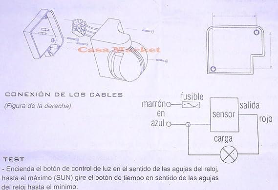 SENSOR INTERRUPTOR DETECTOR INFRAROJOS GIRATORIO DE MOVIMIENTOS PARA PARED O TECHO 05S-FL130: Amazon.es: Electrónica