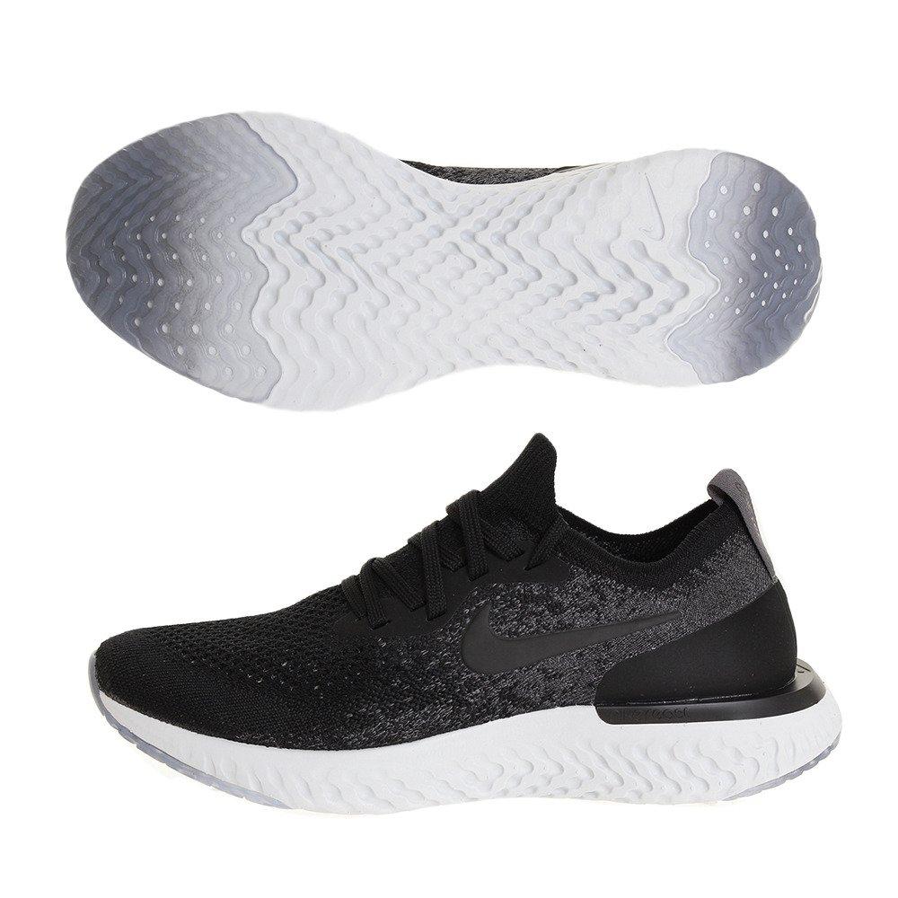 Nike Wmns Nike Epic React Flyknit - black/black-dark grey-pure pla  8|BLACK/BLACK-DARK GREY-PURE