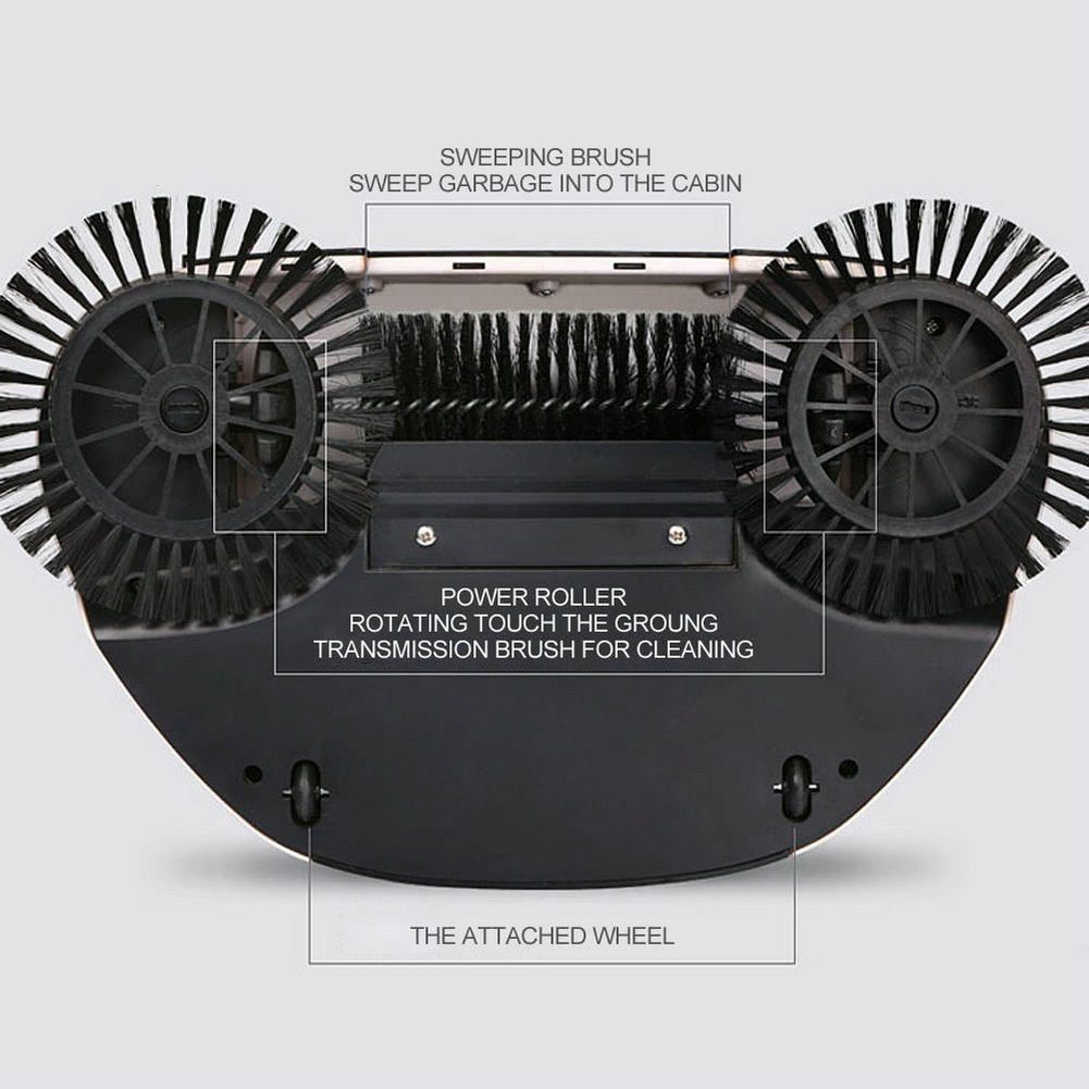 Automático Mano Empuje Escoba Barredora ,RuiYi 360 Rotary Hogar Limpieza Escoba sin Electricidad Aspiradoras Sweeping Máquina 3 in 1 con Recogedor y Trash ...