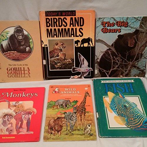 Lot of 5 Hardback Animals Books, Children's Animals Hardbacks, Bird and Mammals - Fish Hardback