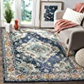 """Safavieh Monaco Collection MNC243F Forest Green and Light Blue Area Rug, 2'2"""" x 4'"""