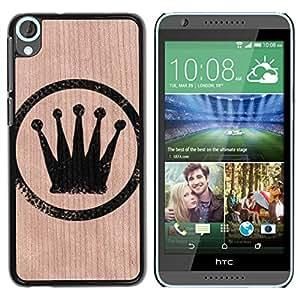 - / King Sign Crown Tag Bling Fancy - - Funda Delgada Cubierta Case Cover de Madera / FOR HTC Desire 820 D820 d820t / Jordan Colourful Shop/