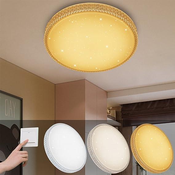 VINGO® 60W LED Deckenleuchte Farbwechsel Wandlampe Starlight-Design ...