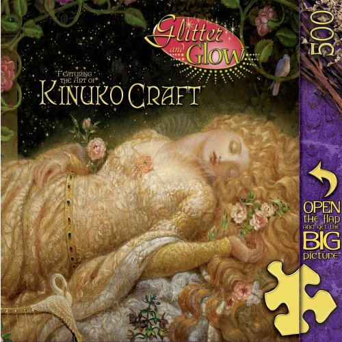 MasterPieces Sleeping Beauty 550pc Glitter Glow Puzzle (550pc Puzzle Masterpieces)