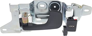 Pair Front Inside Door Handle Black for 92-95 Honda Civic Coupe
