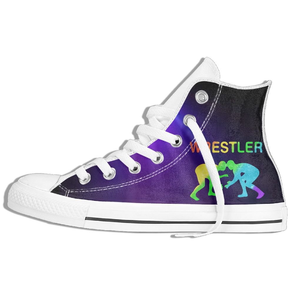 I Love Wrestling Boys Unisex High Top Sneakers Classic Canvas Shoes 36