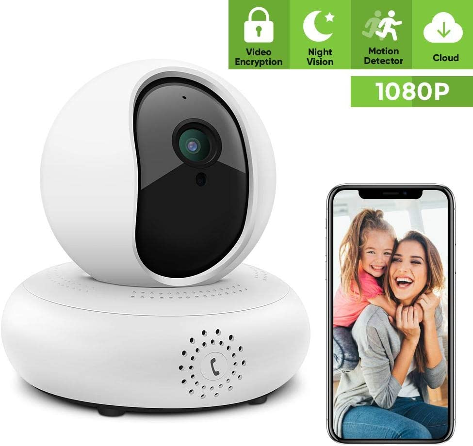 Security Camera Wireless Pet Camera – 1080P IP Camera Full HD Indoor Security Camera Wireless Camera Surveillance Camera Wireless with IR Night Vision, Motion Detection and Two-Way Audio