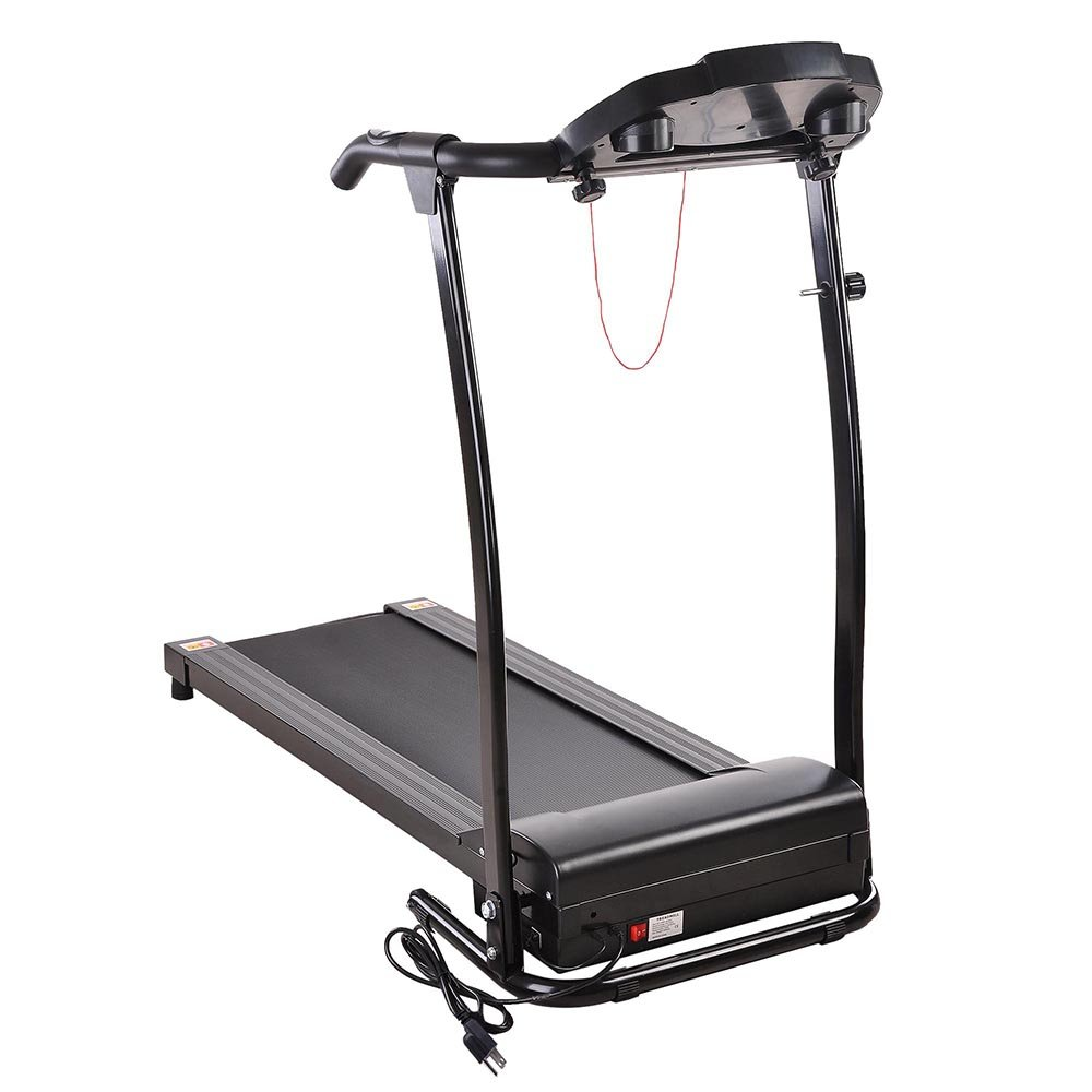 AW 1100W Folding Electric Treadmill Portable Power Motorized Machine Running Jogging Gym Exercise Fitness Black by AW (Image #6)