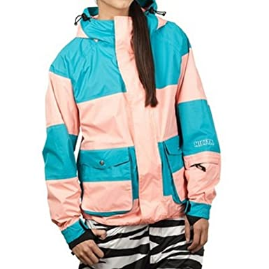 Nikita LEYSIN Chaqueta de Snowboard, Mujer, Verde, XS ...