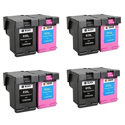 yatunink 61 x l (CH563WN + CH564WN 8 Pack cartucho de tinta ...