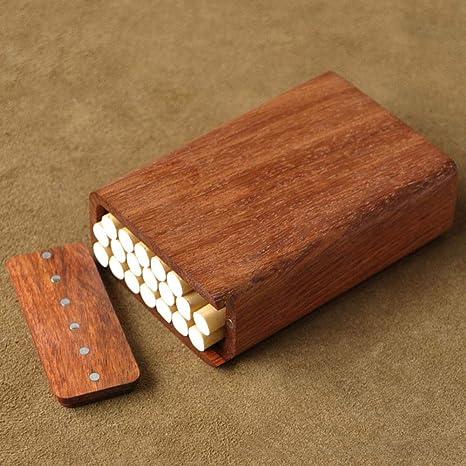 YHSFC Caja de Cigarrillos Madera sólida Protección del Medio Ambiente Natural Regalo Creativo Caja de Cigarrillos,Standardsmoke/10sticks: Amazon.es: Deportes y aire libre