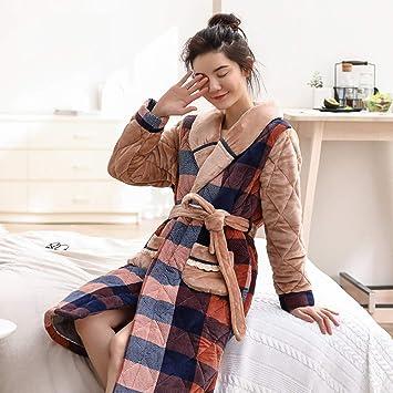 WANG-LONG Ropa De Dormir Batas Mujer Camisón Bata De Baño para Mujer Conjunto De