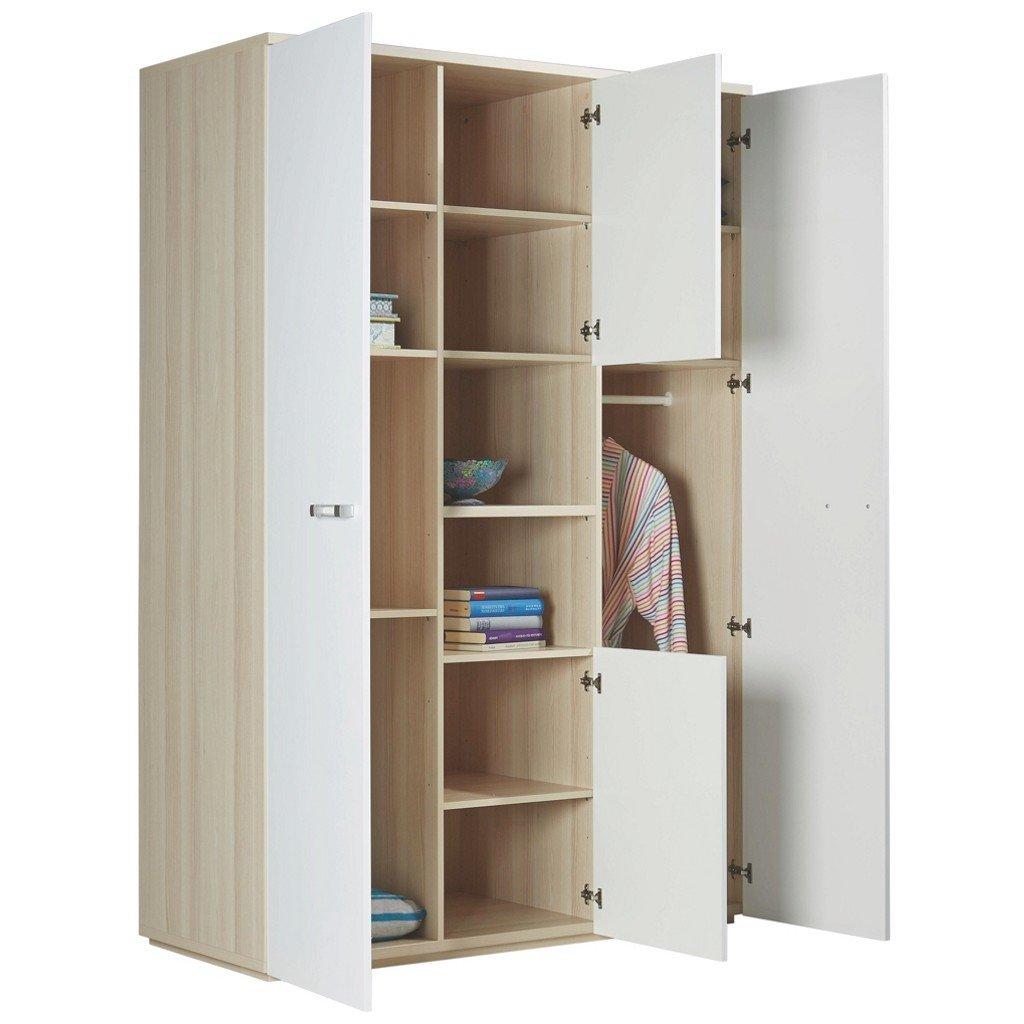 Kleiderschrank Calisma Jugendzimmer Schrank weiß hochglanz lackiert ...