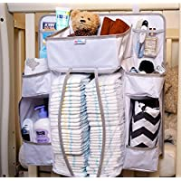 Buzzy Babee Diaper Caddy Organizer for Baby, Brown/Coffee, Large