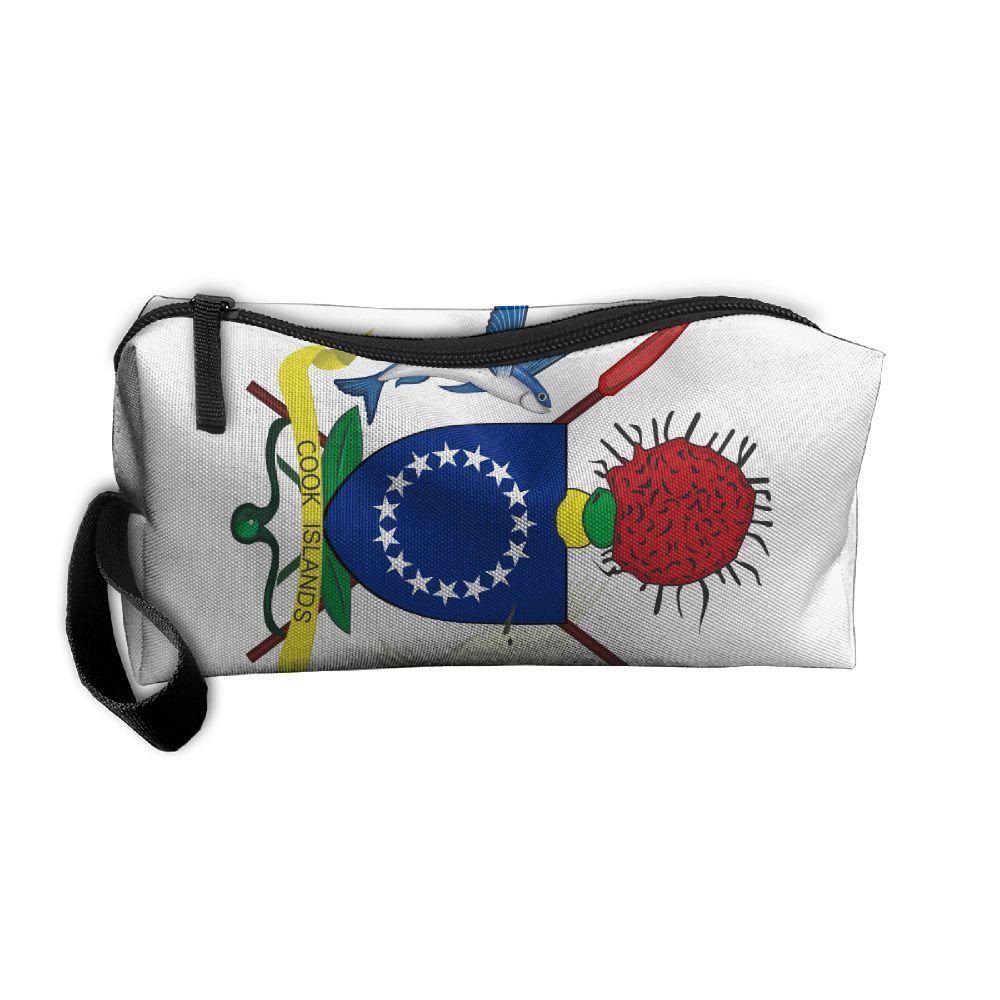 HSs4AD Coat Of Arms Of The Cook Islands Cosmetic Bag Travel Toiletry Bag Portable Makeup Pouch Hanging Organizer Bag