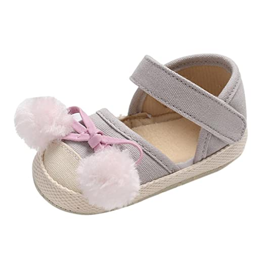 891bf91eabc WARMSHOP Newborn Boys Girls Moccasinss Crib Shoes Closed-Toe Solid Soft  Sole with Ball Prewalker