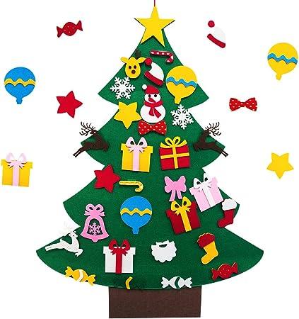 Versiontech Diy Feutre Pour Arbre De Noel Avec 30 Ornements Detachables Decoration Feutre 3 28ft Sapin De Noel Cadeaux Pour Noel Diy Christmas