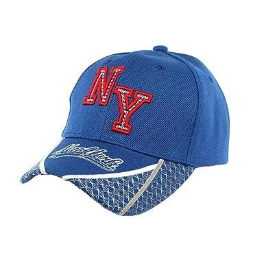Hip Hop Honour-Gorra de béisbol NY, color azul y rojo Stan para ...