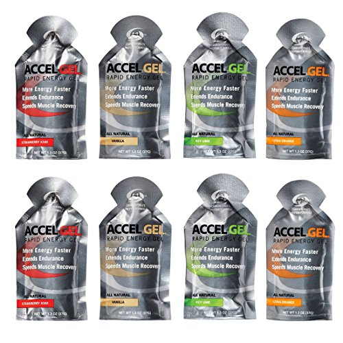 Accel Gel Rapid Energy Gel - Variety 8 Pack (8 x 1.3oz Packs)