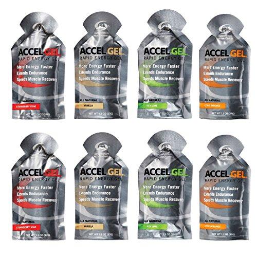 Accel Gel Rapid Energy Gel - Variety 8 Pack (8 x 1.3oz Packs)