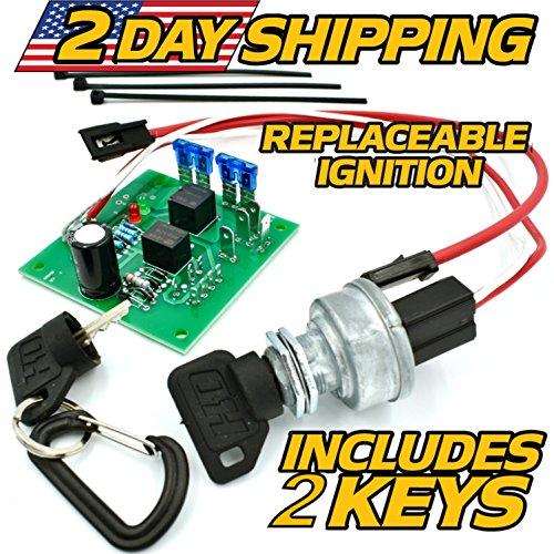 HD Switch John Deere Ignition Switch Module AM136681 Model 415, 425, 445, 455, SN 0-70,000 w/ 2 Umbrella Keys Compatible with John Deere