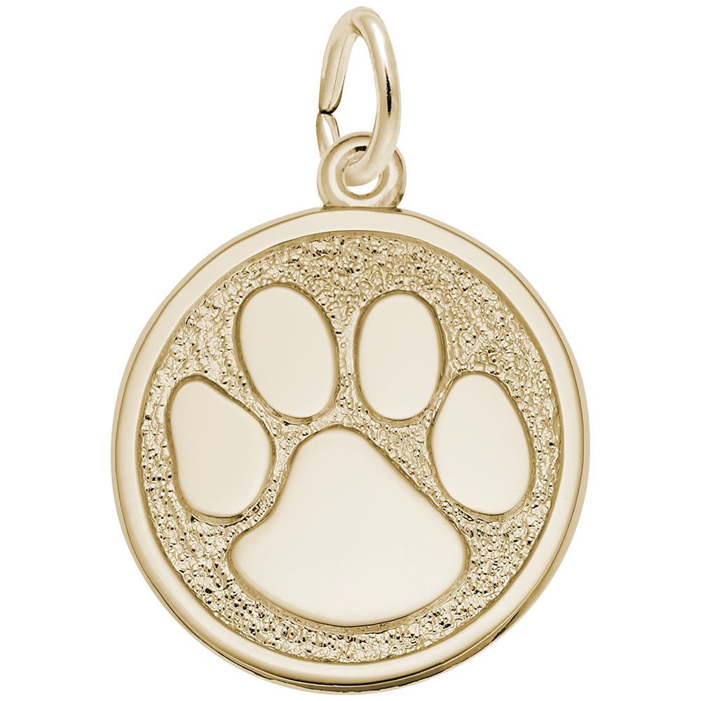 Charms for Bracelets and Necklaces Pawprint Charm