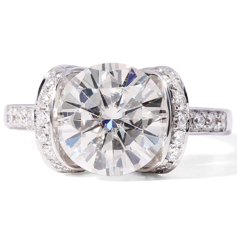 Amazon Moissanite Wedding Ring in 14k Gold 10MM 3 9CT F VVS