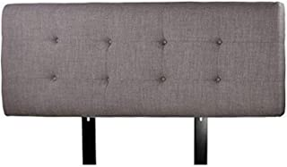 product image for MJL Furniture Designs Ali Padded Bedroom Headboard Contemporary Styled Bedroom Décor, HJM100 Series Headboard, Gray with Red Tint Finish, Queen Sized, USA Made