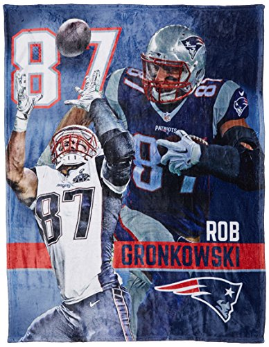 New Patriots England Blanket Soft (The Northwest Company Officially Licensed NFL New England Patriots Rob Gronkowski Silk Touch Throw Blanket, 50