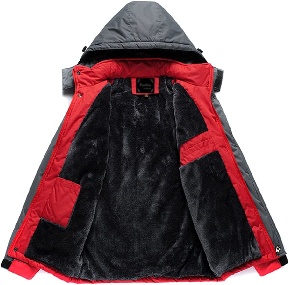 ZhiYuanAN Pareja Softshell Chaqueta Jacket Grueso Y C/álido Chamarra Impermeable Con Capucha Casual Talla Grande Outdoor Sport Parka Chaquetones De Invierno