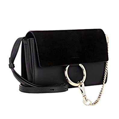 452cc05194c Actlure Genuine Leather Crossbody Shoulder Bag Purse Chain link ...
