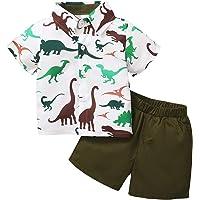 Amissz Conjunto Niños Bebés Verano Camisas, Camiseta de Manga Corta Pantalón Corto Ropa para niños de Entre 1 y 5 años
