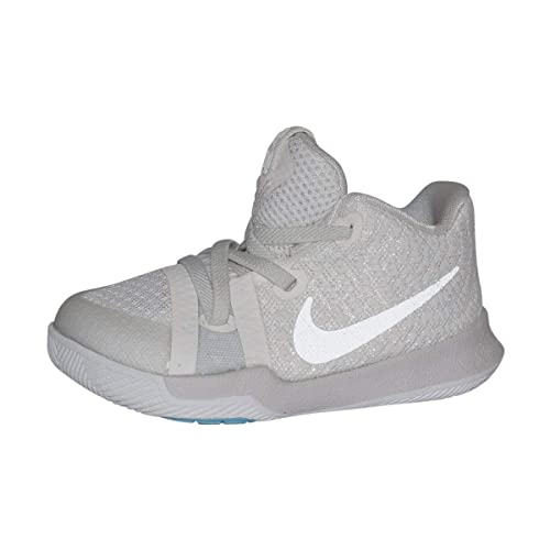 new arrive best sneakers factory price NIKE Infant Kyrie 3 Basketball Shoes (Ivory/Pale Grey-Light Bone,