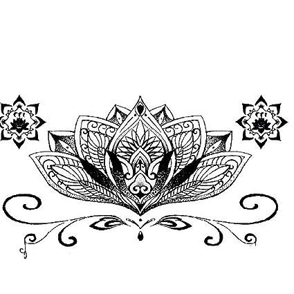 Lotus Tatuajes temporales resistentes al agua, diseño de ...