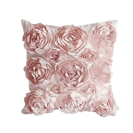 Cuscini Con Rose.Cosanter 1 X Rose Fiori Design Federa Per Cuscino Guanciale In