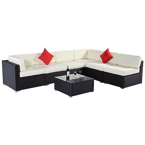 Fine Amazon Com Outdoor 7Pc Furniture Sectional Pe Wicker Patio Ibusinesslaw Wood Chair Design Ideas Ibusinesslaworg