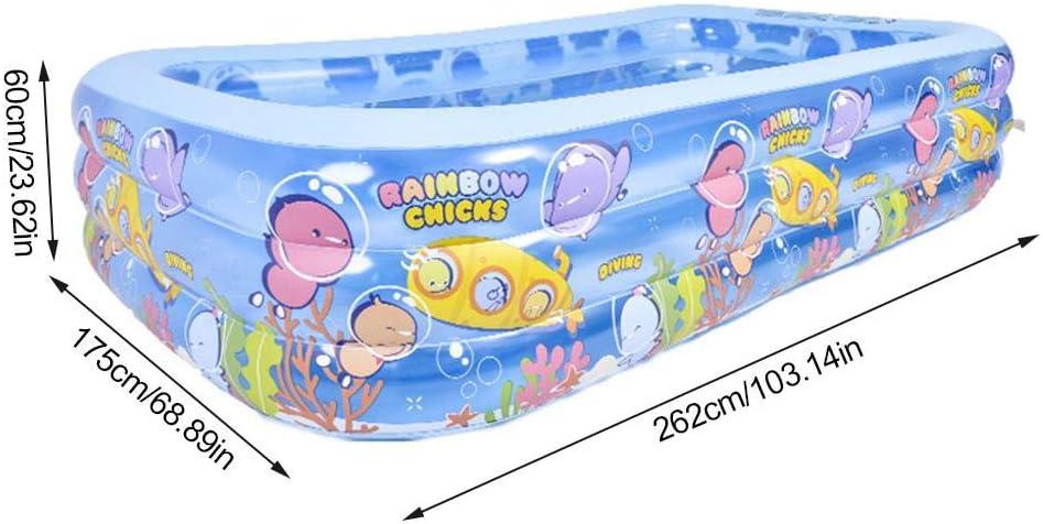Piscina hinchable del centro de natación sobre 3 años, tamaño máximo 262 175 60 cm 262 cm.