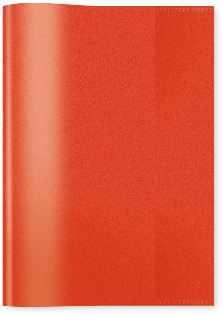 Herma 7492 Heftumschlag DIN A4, Kunststoff, transparent rot, 1 Heftschoner für Schulhefte