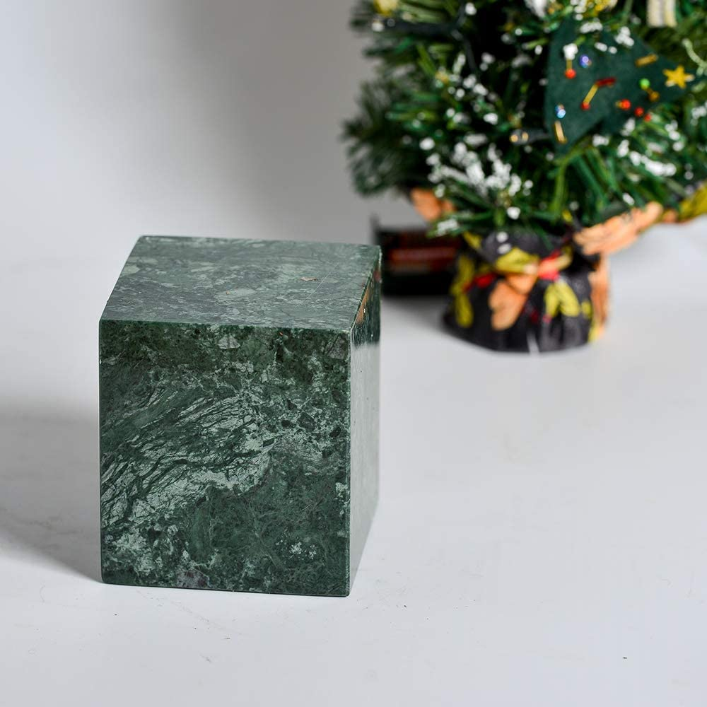 Vert YCD Zrian Pot de Coton en marbre avec Couvercle Coton Porte Stockage Coupe carr/ée Coton-Tige Box