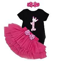 BabyPreg® neonate primo tutu di compleanno con fascia Set