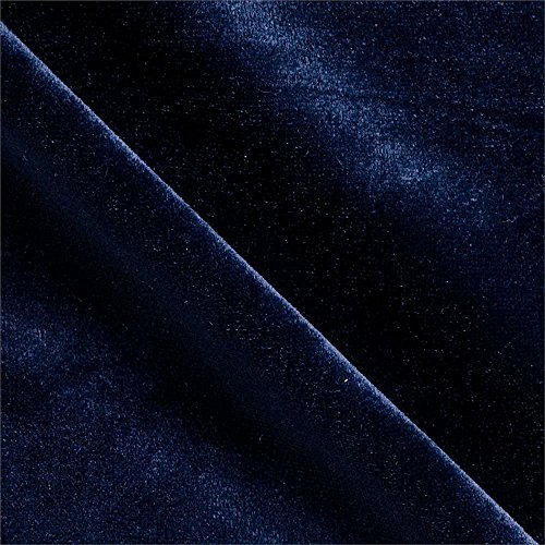 Stretch Velvet Fabric By the Yard - Midnight Blue Velvet Fabric
