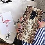 MISC Luxury Brown Snakeskin Galaxy S6 Edge Plus Sized Case, Bigger Screen Python Snake Skin Pattern Phone Cover Snake Texture Wild Animal Fashion Stylish Protective Shockproof Slim Soft, TPU