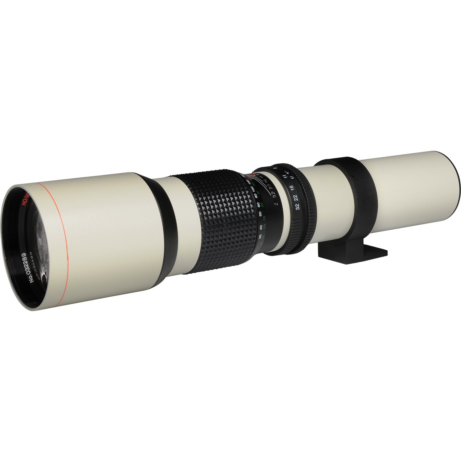 Vivitar 500mm f/8.0 Telephoto Lens (T Mount) (White) with 2X Teleconverter (=1000mm) + EN-EL14 Battery + Monopod + Kit for D3300, D3400, D5300, D5500, D5600 by Vivitar (Image #2)