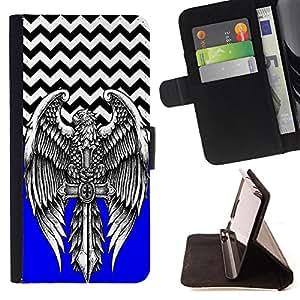 Jordan Colourful Shop - FOR Samsung Galaxy S4 IV I9500 - Look before you leap - Leather Case Absorci¨®n cubierta de la caja de alto impacto