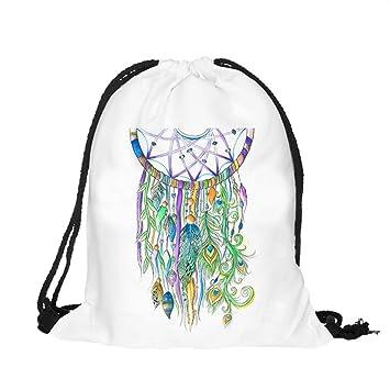 Múgica Unisex Atrapasueños pintura Mochilas Bolsas cordón mochila de impresión 3d: Amazon.es: Deportes y aire libre